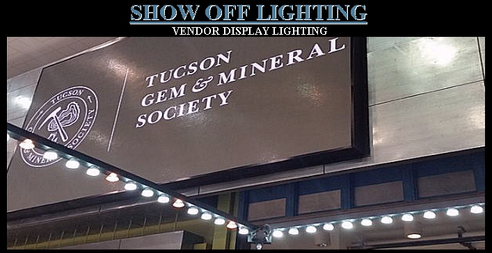 Trade show jewelry case display lighting booth lights pop up exhibits tgms tucson gem mineral society show jewelry display lighting overhead vendor booth lighting aloadofball Images