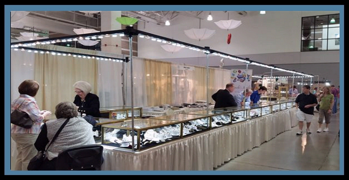 TGMS 2016, TGMS Show 2016, Tucson Gem & Mineral Show, Tucson Gem & Mineral Society Club Show, Tucson Show Guide, jewelry booth LED lighting, interior LED lighting