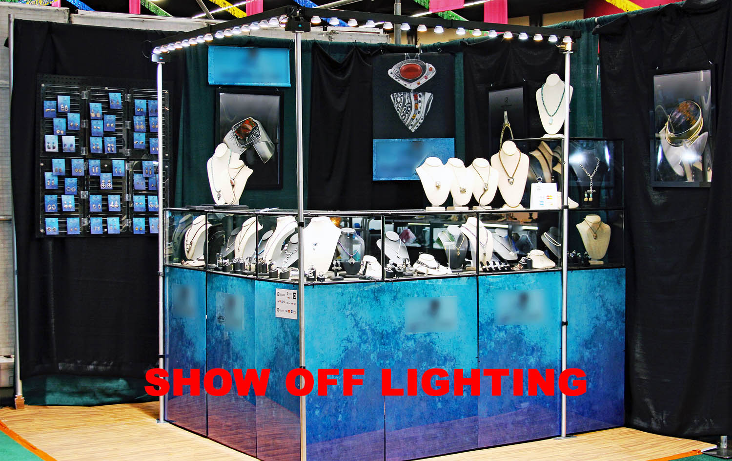 craft show lighting, craft show display lights, art show display lighting