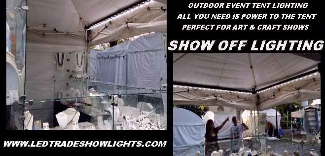 art show tent booth lighting event tent lighting portable tent led lights craft  sc 1 st  Show Off Lighting LED trade show lighting products & Convention Expo Booth Lighting Portable LED Display Light
