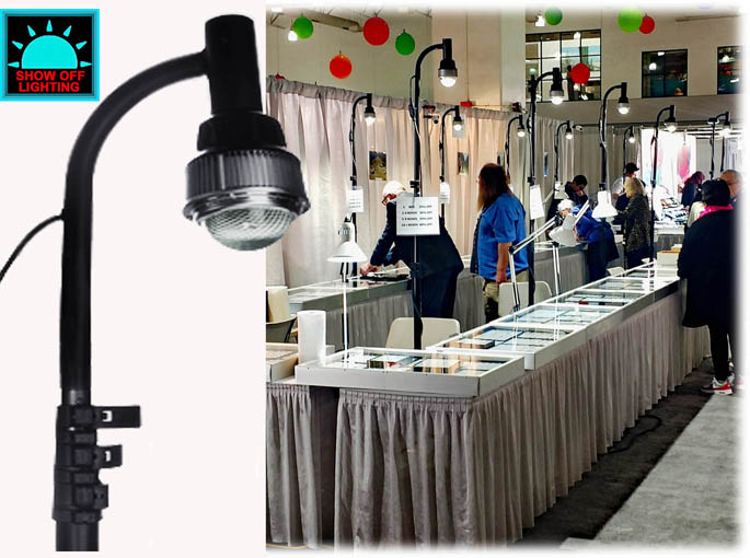 Portable Exhibition Lighting : Trade show booth lighting portable led display light