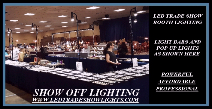Trade show displays led light strips for Jewelry display trade show